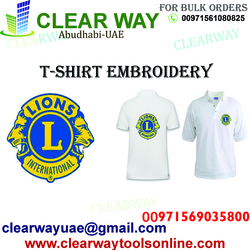 T-SHIRT EMBROIDERY IN MUSSAFAH , ABUDHABI ,UAE