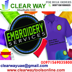 WORK WEAR & UNIFORMS EMBROIDERY SERVICE IN MUSSAFAH , ABUDHABI ,UAE