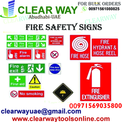 FIRE SAFETY SIGNS DEALER IN MUSSAFAH , ABUDHABI ,UAE