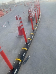 Road seperator barrier from RUBBER SAFE UAE
