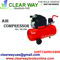 2HP 24 & 50 LITRE DIRECT DRIVE AIR COMPRESSOR 230V DEALER IN MUSSAFAH , ABUDHABI ,UAE from CLEAR WAY BUILDING MATERIALS TRADING