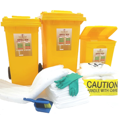 Empiral Oil Spill Kit Wheeled Bin 60 Gallon  (240 Ltrs) from SAMS GENERAL TRADING LLC