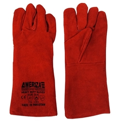 Ameriza Red Welding Leather Gloves