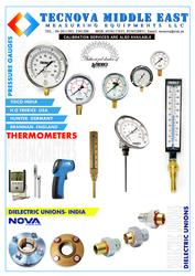 Pressure Gauges from TECNOVA MIDDLE EAST MEASURING EQUIPMENTS LLC