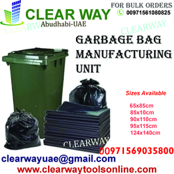 GARBAGE BAG MANUFACTURING UNIT IN MUSSAFAH , ABUDHABI , UAE from CLEAR WAY BUILDING MATERIALS TRADING