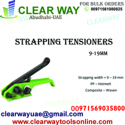 STRAPPING TENSIONERS 9-19MM DEALER IN MUSSAFAH , ABUDHABI , UAE BY CLEARWAY
