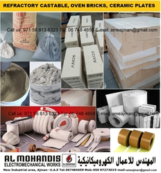 Refractory castable fire brick oven brick cement ceramic plate refractory material supplier in dubai sharjah uae oman bahrain