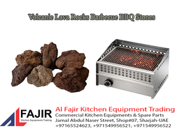 LAVA STONE in UAE / Volcanic Lava Rocks Barbecue BBQ Stones from AL FAJIR KITCHEN EQUIPMENT TARDING