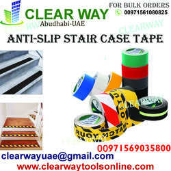 ANTI SLIP STAIR CASE TAPE DEALER IN MUSSAFAH , ABUDHABI , UAE from CLEAR WAY BUILDING MATERIALS TRADING