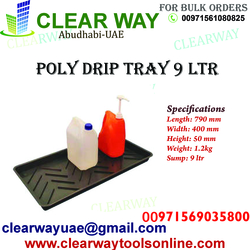 POLY DRIP TRAY 9 LITRE DEALER IN MUSSAFAH , ABUDHABI , UAE