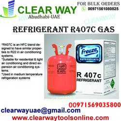 REFRIGERANT R407C GAS DEALER IN MUSSAFAH , ABUDHABI ,UAE