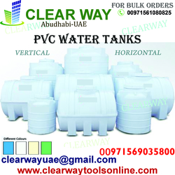 PVC WATER TANKS DEALER IN MUSSAFAH , ABUDHABI , UAE from CLEAR WAY BUILDING MATERIALS TRADING