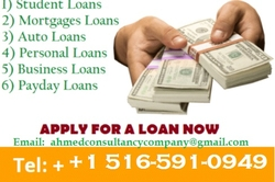 We are financial builders and we give out finance to everyone from AHMED LOAN CONSULTANCY COMPANY