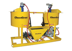 HYDRAULIC GROUT MIXING AND PUMPING