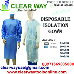 DISPOSABLE ISOLATION GOWN DEALER IN MUSSAFAH , ABUDHABI ,UAE