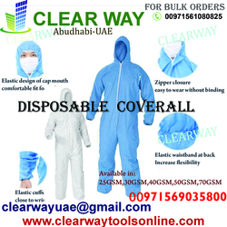 DISPOSABLE COVERALL DEALER IN MUSSAFAH , ABUDHABI , UAE