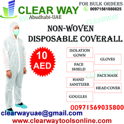 NON-WOVEN DISPOSABLE COVERALL DEALER IN MUSSAFAH , ABUDHABI , UAE