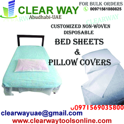 CUSTOMIZED NON-WOVEN DISPOSABLE BEDSHEETS &PILLOW COVERS DEALER IN MUSSAFAH , ABUDHABI , UAE