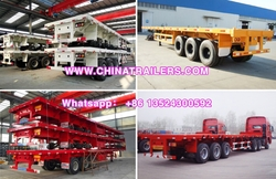 ChinaTrailers 3 Axle 60ft Flatbed Container High Bed Semi Trailer For Sale