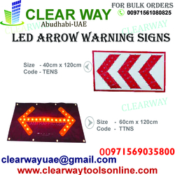 LED ARROW WARNING SIGNS DEALER IN MUSSAFAH , ABUDHABI , UAE