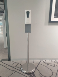 Stainless Steel Floor Stand for Sanitizer Dispenser