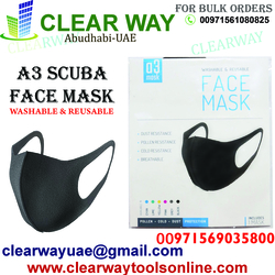 WASHABLE &REUSABLE A3 SCUBA FACE MASK DEALER IN MUSSAFAH , ABUDHABI , UAE