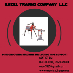 PIPE GROOVING MACHINE WITH STAND SUPPLIER AND DEALER IN MUSAFFAH ABUDHABI,UAE from EXCEL TRADING COMPANY L L C