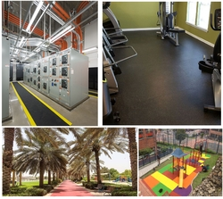 Rubber flooring and Jogging Tracks from TRI COLORS GENERAL TRADING LLC