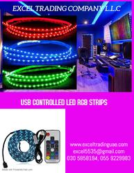 USB CONTROLLED LED RGB STRIP SUPPLIERS AND DEALERS IN ABUDHABI,AJMAN,ALAIN,RAS AL KHAIMAH,DUBAI,FUJARAH,UMM AL QUWAIN,ALL GCC COUNTRIES,KUWAIT,AFRICA ,MUSSAFAH ,UAE