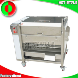 Commercial yam potato taro ginger peeling machine with cover