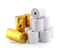 Cheap copy paper thermal market paper roll package 75mm printing paper roll with different core