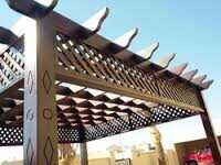 WOODEN PERGOLA SUPPLIERS 0543839003 from CAR PARKING SHADES SUPPLIER