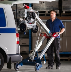 POWERED HAND TRUCK FOR MATERIAL LIFTING