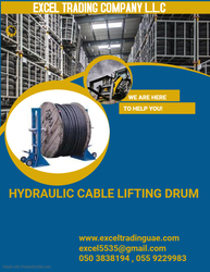 HYDRAULIC CABLE LIFTING DRUM SUPPLIERS AND DEALERS IN ABUDHABI,AJMAN,ALAIN,RAS AL KHAIMAH,DUBAI,FUJARAH,UMM AL QUWAIN,ALL GCC COUNTRIES,KUWAIT,AFRICA ,MUSSAFAH ,UAE from EXCEL TRADING COMPANY L L C