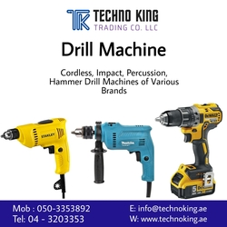 Power Tools Makitha, Dewalt, Stanley, Black and Decker, Bosch  from TECHNO KING TRADING CO LLC