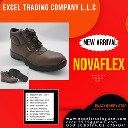 NOVAFLEX SAFETY SHOES MANUFACTURES ,SUPPLIERS AND DEALERS IN ABUDHABI,MUSSAFAH,UAE   from EXCEL TRADING COMPANY L L C