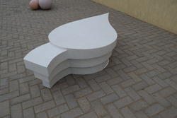 Leaf Bench Supplier in UAE (Cast Stone) from ALCON CONCRETE PRODUCTS FACTORY LLC