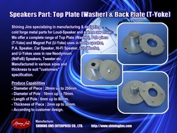 SPEAKERS PART WASHER & T-YOKE MADE IN TAIWAN