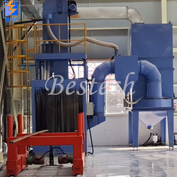 Roller Conveyor Steel Structure Shot Blasting Machine from QINGDAO BESTECH MACHINERY CO.,LTD