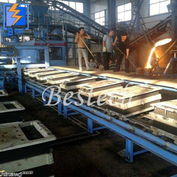 Foundry Clay Sand Molding Production Line for Manhole Cover from QINGDAO BESTECH MACHINERY CO.,LTD