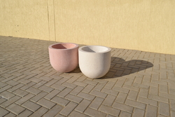 Concrete Planter Pot supplier in Abu Dhabi from ALCON CONCRETE PRODUCTS FACTORY LLC