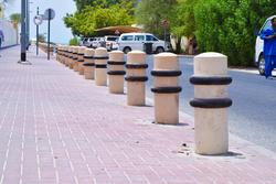 Precast concrete bollard suppliers in Dubai from ALCON CONCRETE PRODUCTS FACTORY LLC