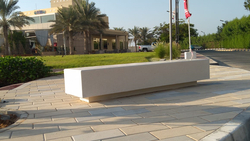 Precast Concrete Bench Supplier in Fujairah from ALCON CONCRETE PRODUCTS FACTORY LLC