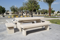 Precast Concrete Street Furniture Manufacturer in Abu Dhabi from ALCON CONCRETE PRODUCTS FACTORY LLC