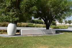 Precast Concrete Litter Bin Supplier in Al Ain from ALCON CONCRETE PRODUCTS FACTORY LLC