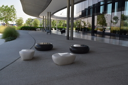 Pebble Seat Manufacturer in UAE from ALCON CONCRETE PRODUCTS FACTORY LLC