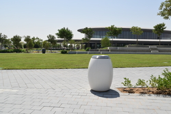 Concrete litter bin supplier in Ajman from ALCON CONCRETE PRODUCTS FACTORY LLC