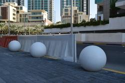 Bollards supplier in Abu Dhabi  from DUCON BUILDING MATERIALS LLC