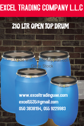 PLASTIC DRUMS - OPEN TOP 210 LTR from EXCEL TRADING COMPANY L L C