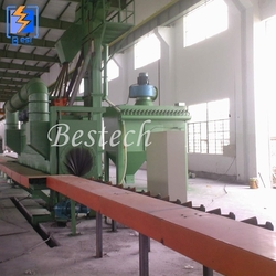 Round Steel Pipe Outer Surface Shot Blasting Machine from QINGDAO BESTECH MACHINERY CO.,LTD